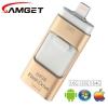 Накопитель USB 3.0 16Gb DQiDianZ, 3 в 1, Ultra Dual iРhone 5/6/7